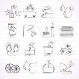 Spa and relax objects icons royalty free illustration