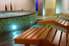 Spa relax room Royalty Free Stock Photo