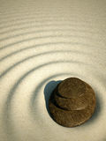 Spa relax stone zen sand volcano. Water for web design or print Stock Photo