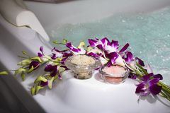 Spa Relaxation. Bath and Spa items. Time for relaxation stock photos