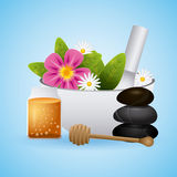 Spa relaxation area Royalty Free Stock Photos