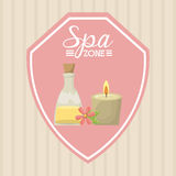Spa relaxation area Royalty Free Stock Images