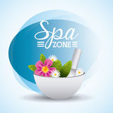 Spa relaxation area Royalty Free Stock Photography