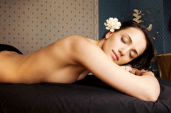 Spa relaxation beautiful female Royalty Free Stock Photography