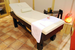 Spa relaxation bed for massage Royalty Free Stock Photo