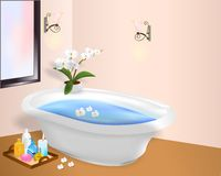 Spa and relaxation, cdr vector Royalty Free Stock Photography