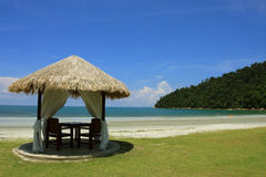 Spa Relaxation Hut. A beach hut in a luxury tropical resort Stock Photo