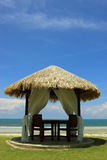 Spa Relaxation Hut. A beach hut in a luxury tropical resort Stock Photos