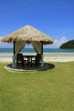 Spa Relaxation Hut. A beach hut in a luxury tropical resort Royalty Free Stock Photo