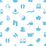 Spa and relaxation simple blue and white seamless pattern eps10 Stock Photography