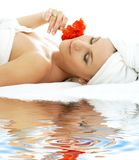 Spa relaxation on white sand #2 Stock Photos