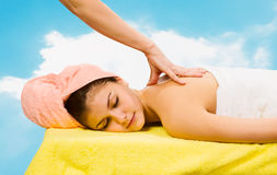Spa Relaxing.Massage Stock Photos