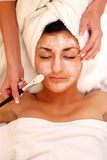 Spa Resort. An attractive young lady getting a facial. Please see some of my other SPA images stock photos