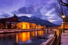 Spa resort Bad Ischl Austria at sunset Royalty Free Stock Photo