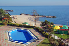 Spa resort on beach royalty free stock photos