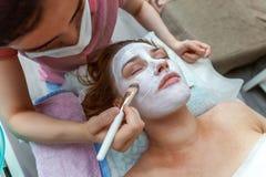Woman in spa salon royalty free stock photos