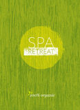 Spa Retreat Organic Eco Background. Nature Friendly Vector Concept On Rough Textured Background Royalty Free Stock Photo