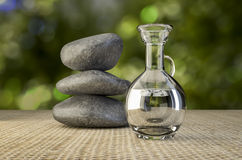 SPA Rocks and massage oil Royalty Free Stock Photography
