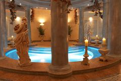 Spa with Roman Columns royalty free stock photos