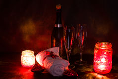 Spa romantic setting for valentines day Stock Image
