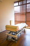Spa room and massage bed Stock Photo
