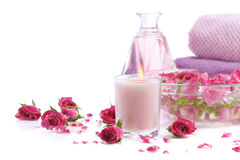 Spa with rose petals Royalty Free Stock Images