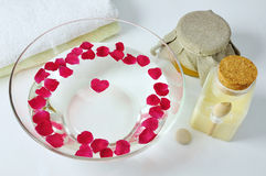 SPA & rose petals Royalty Free Stock Photos