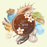 Spa round banner Stock Photography