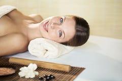 At spa salon stock photography