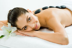 In the spa salon Stock Photography