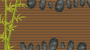 Spa salon banner template. Bamboo and pebble rocks. Stock Image