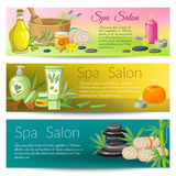 Spa Salon Banners Collection Stock Images