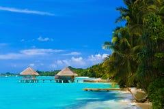 Spa salon on beach Royalty Free Stock Image