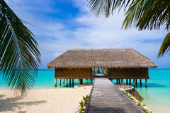 Spa salon on beach stock image