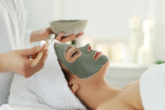 Spa salon. Beauty and healthcare. Woman in spa salon stock images