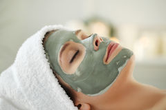 Spa salon. Beauty and healthcare. Woman in spa salon Royalty Free Stock Photo