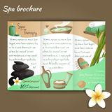 Spa salon brochure Royalty Free Stock Photos