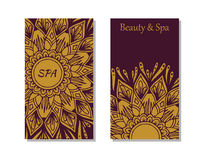 Spa salon card template Stock Images