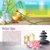 Spa Salon Compositions Stock Image