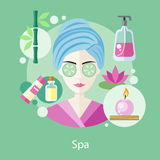 Spa Salon Concept Flat Style Design Stock Images
