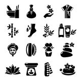 Spa salon icons set, simple style Royalty Free Stock Photography