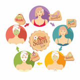 Spa salon illustration Royalty Free Stock Photos