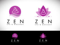 Spa Salon Logo Design Stock Photography