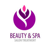 Spa salon logo template Royalty Free Stock Photography