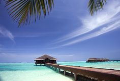 Spa salon in Maldives Royalty Free Stock Photography