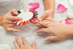 Spa salon. Manicure. Royalty Free Stock Photography