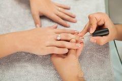 Spa salon. Manicure. Royalty Free Stock Photos