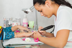 Spa salon. Manicure. Royalty Free Stock Images