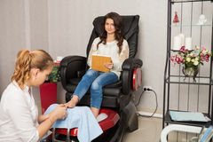 Spa salon. Pedicure. Stock Photography