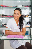 Spa salon. Portrait of manicurist. Royalty Free Stock Photos